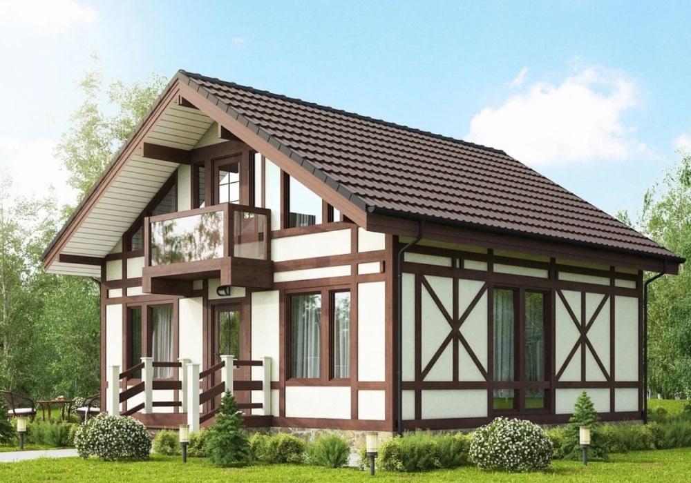 Современный дом в немецком стиле фахверк
