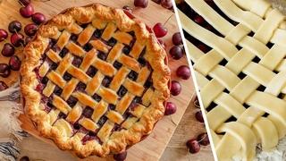 Пирог вишневый плетеный (CookingTime)