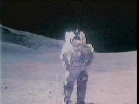 Astronauts Strolling on the Moon and Singing Apollo 17