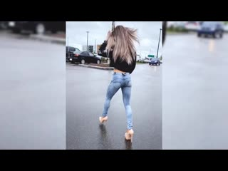 Walking and shopping High Heels and Jeans (I accidentally posted this but I'll j