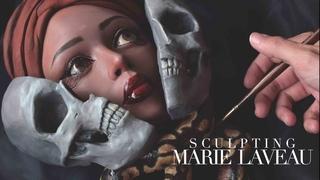Painting Clay Sculpture | Voodoo Priestess Marie Laveau