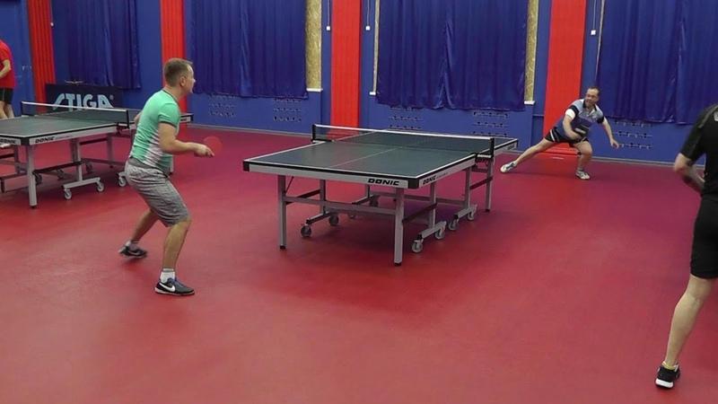 тактика игры в настольный теннис игра по месту в падении бэкхендом Красненький П Чирков А