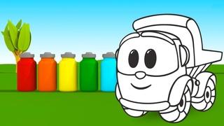 Учим цвета с грузовичком Левой! Мультики про машинки на английском языке.