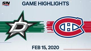 NHL Highlights   Stars vs Canadiens – Feb. 15, 2020