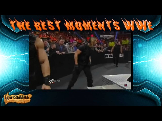WWE Сет Роллинс Щит против Биг Шоу