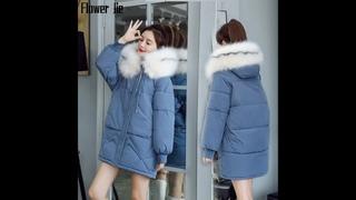 Женское зимнее пальто с капюшоном и меховым воротником, черная длинная парка mujer 2020, новые свободные хлопковые пальто,