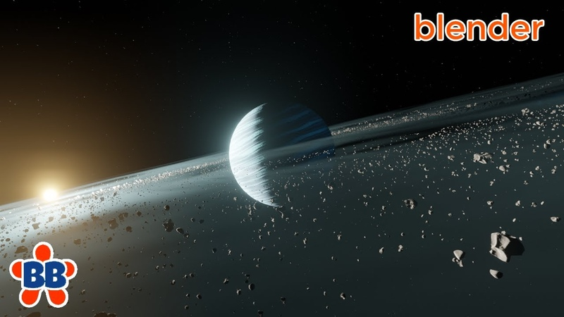 Fast Space Planet Rings Scene in Blender 2 8 EEVEE Quick and Dirty