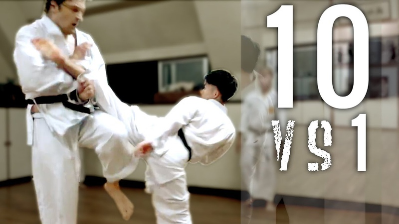 10 Man Kumite Goju ryu Full Contact Karate Okinawa Yagi Dojo