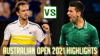 Novak Djokovic vs Daniil Medvedev - Australian Open 2021 Final Highlights HD