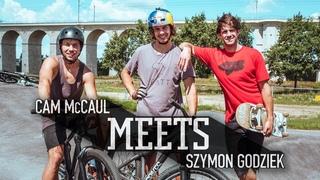 MTB Legend Cam McCaul meets up with Szymon Godziek. | McCaul Meets