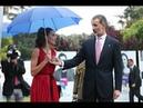 Felipe VI y Letizia, momento tenso por un paraguas