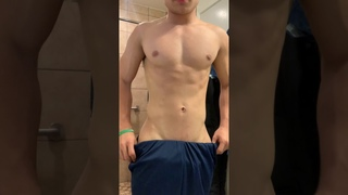 Fitness Teen Flexing Insane Aesthetic Muscles / Full Video (in briefs) Link in the Description