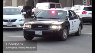 Police Car Responding: LAPD Slicktop -- Steady Burn Red Light