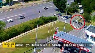 ДТП (авария г. Волжский) ул. Карбышева - ул. Пионерская 24-07-2021 10-10
