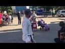 Пляска в Усть-Ижоре на Троицу 16 июня 2019 г. Алексей Русанов, Михаил Рейма, Михаил Толмачев.