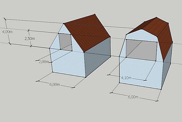 Ломаная крыша: стропильная система, расчет с размерами, изображение №3