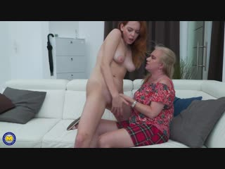 Candy red 19, lily may eu 49 2 old and young lesbians playing with eachother