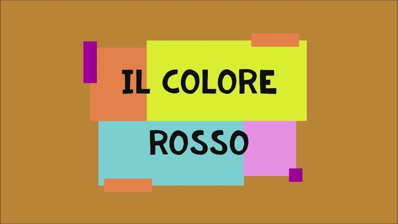 6 ROSSO MODO DI DIRE CON I COLORI LEZIONI DI LINGUA ITALIANA PER STRANIERI CON ROBERTO