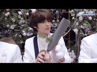 Rus sub T:TIME Flower Party fansign event (eye contact ver.) - TXT