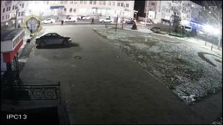 Момент наезда на пешеходов в Могилеве