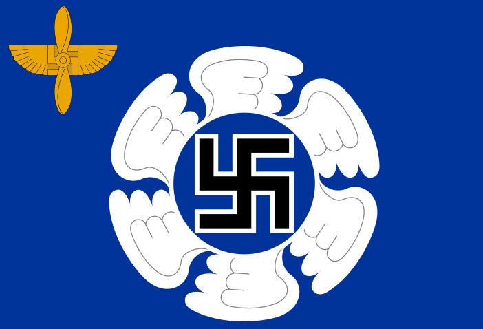 Современный флаг воздушных сил Финляндии