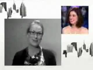 Meryls message for Anne Hattaway - Le Grand Journal (19.01.2009)