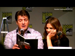 Castle Panel, Comic-Con 2010: Nathan and Stana read from Heat Wave(русские субтитры)