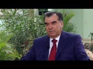 euronews interview - Президент Таджикистана Эмомали Рахмон: Контрабанда...