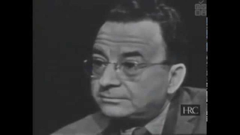 Интервью с Эрихом Фроммом на телеканале «Эй би си» эфир от 25 мая 1958 г