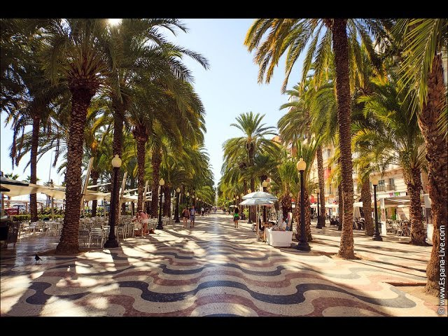 Города Испании Аликанте, Средиземное море, юг побережья Costa Blanca
