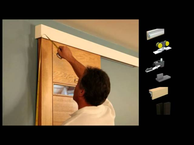 Mantion Straight Sliding Door System With Clippable Wooden Pelmet