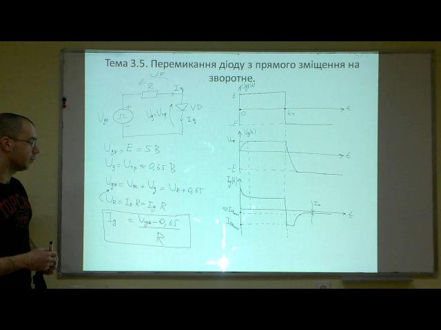 Лекція 6 Тема 3 4 Перемикання діоду з прямого зміщення на зворотне