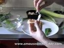 Antipasto primaverile VisualFood Un tulipano fatto di cialde di parmigiano