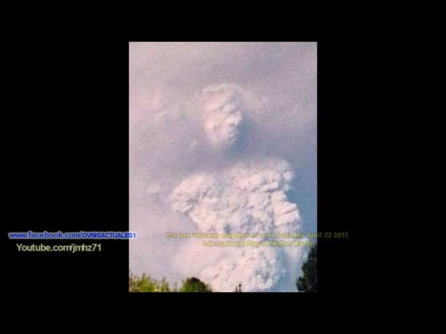 Humanoide Formado Por el Volcan Cabulco chile▬Humanoid Formed By the Volcano chile 22/04/2015