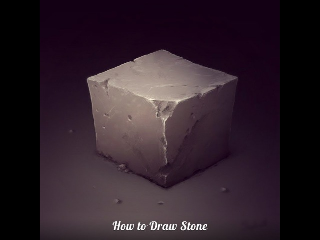 Drawing Stone Cube in Photoshop ● Digital Drawing Process by SephirothArt