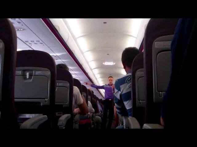 WIZZAIR Masurile de siguranta safety demo pentru pasageri 2012 HD
