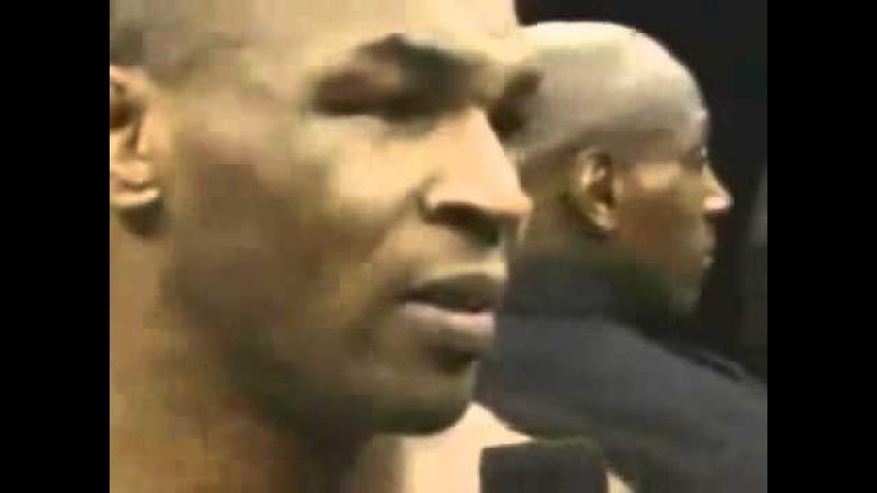 Mike Tyson I broke my back. Spinal.