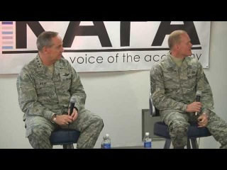 Gen. Welsh and CMSAF Cody USAFA town Hall meeting