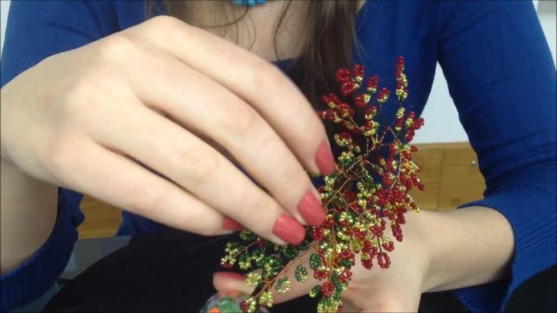 Bäume aus Glasperlen Herbstlicher Baum Trees out of beads Biser Anna's Perlen