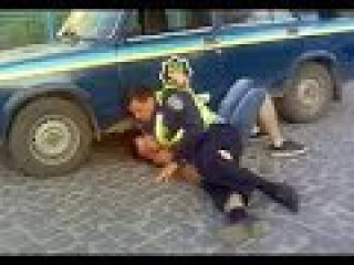 Мрази ГАИ избили водителя / Police beat up the driver