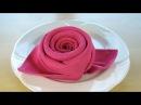 Servietten falten Rose 🌹 Blüte / Blume - Einfache DIY Tischdeko basteln: Geburtstag, Hochzeit