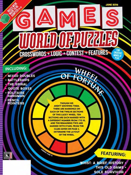 Games World of Puzzles - June 2016