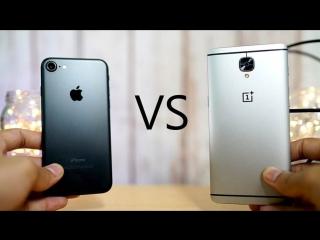 Apple iphone 7 против oneplus 3 - тест скорости.