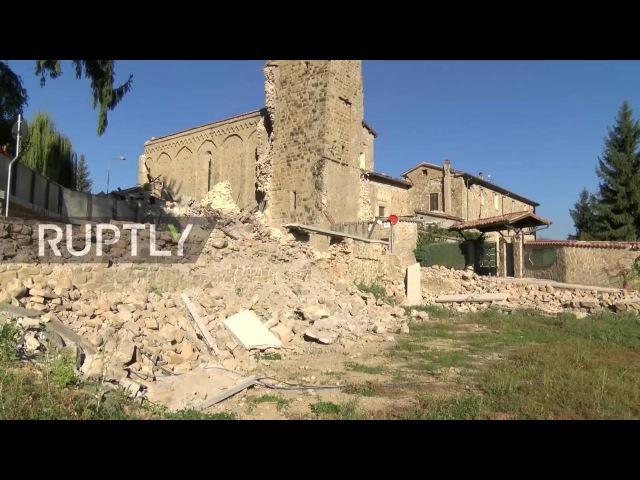 Италия Поиск для жителей оказавшиеся под завалами в Аматриче продолжается