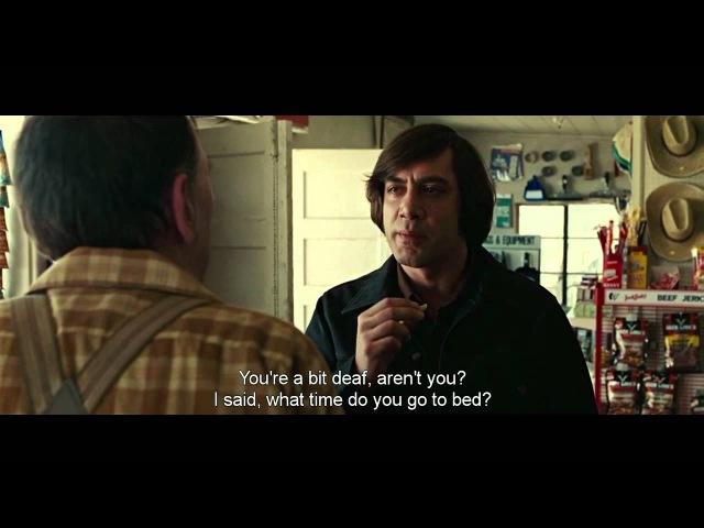 No country for old men coin toss scene