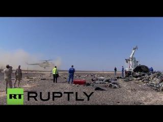Египет: Международные следователи обследования места крушения Синайский.