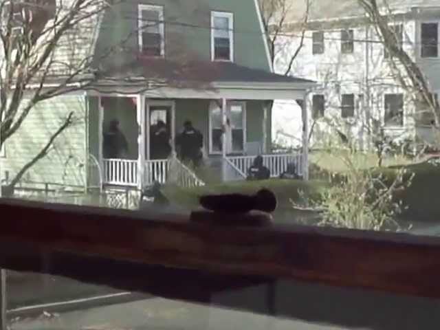 Police perform house to house raids in Watertown MA ripping innocent families from their homes