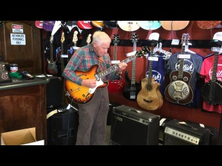 Grandfather aged 81 walks into guitar shop then stuns everybody with this jaw-dropping solo