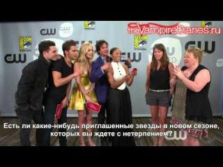 The Vampire Diaries | Comic-Con 2015 Q&A: Part 2 | The CW [Русские субтитры]