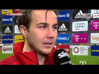 Mario Götze – post-match interview – Bayern München v Werder Bremen